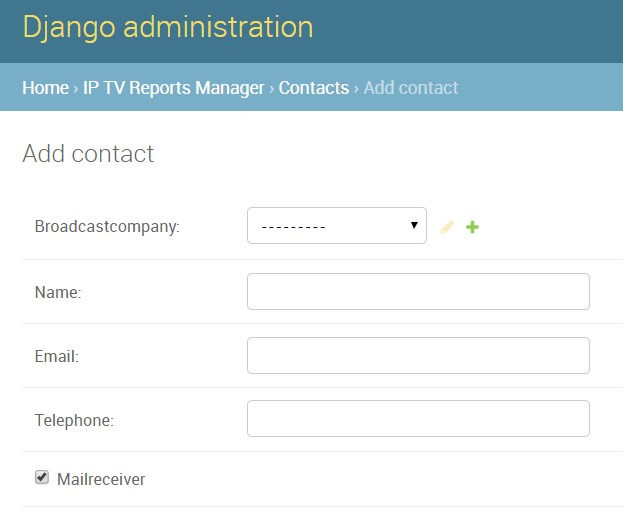 Django contacts example